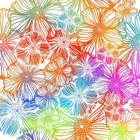 Fleur abstraite arc-en-ciel. Illustration vectorielle