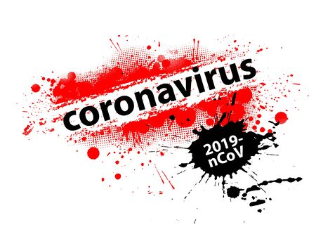 Stop coronavirus. 2019-nCoV danger and public health risk disease and flu. Pandemic medical concept with dangerous cells. Vector illustration Ilustrace