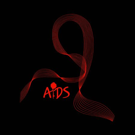 Aids. Abstract tape. Vector illustration