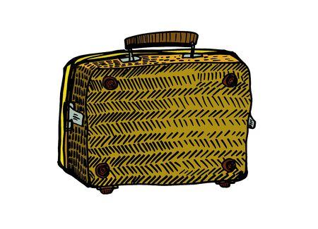 Vintage suitcase. Vector illustration Illusztráció