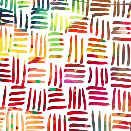 A multicolored abstract background. Rainbow hatching. Vector Illustrated