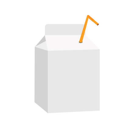 A bag of juice.  Vector illustration  イラスト・ベクター素材