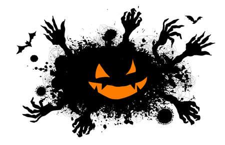 Halloween Scary monster with hands. Vector illustration Vecteurs