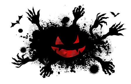 Scary zombie hands silhouettes.