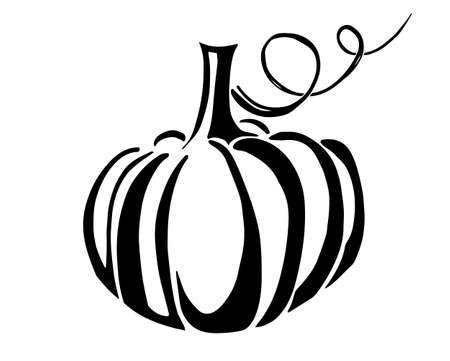 pumpkin black silhouette. Vector illustration