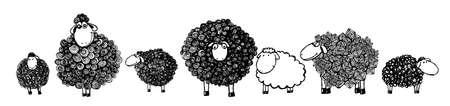 Colorful lamb. Vector illustration