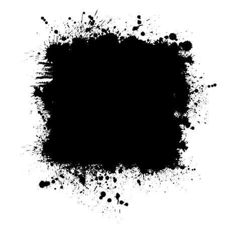 Brush stroke isolated on white background. Black paint brush. Grunge texture stroke line. Art ink dirty design. Border for artistic shape, paintbrush element. Brushstroke graphic Vector illustration