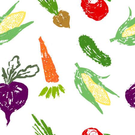 Set of vegetables from blots. Vector illustration 矢量图像