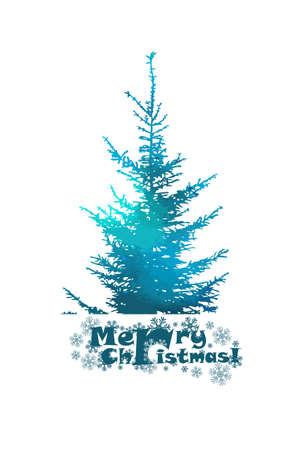 bright watercolor vector Christmas tree Illusztráció