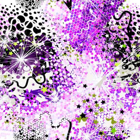 Abstract background from multicolored circles. Vector illustration Illusztráció