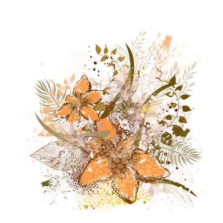 Floral vintage abstraction. Vector