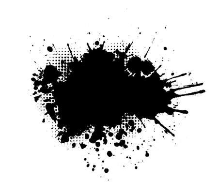 Brush stroke isolated on white background. Black paint brush. Grunge texture stroke line. Art ink dirty design. Border for artistic shape, paintbrush element. Brushstroke graphic Vector illustration Illusztráció