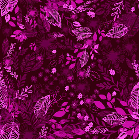 burgundy seamless background with butterflies