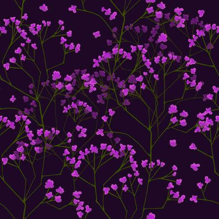 Seamless floral pattern, flowers of gypsophila Illustration