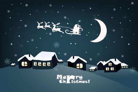 Christmas landscape background Illusztráció