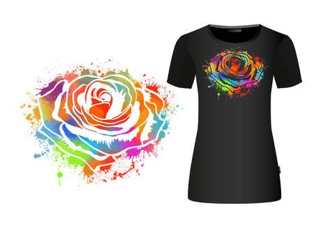 A multi-colored rose. Vector illustration Illusztráció