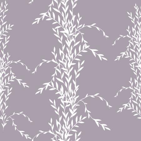 Seamless monochrome floral background. Vector illustration