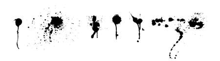 Vector Set of Grunge Design Elements. Brush Strokes. Large Collection.