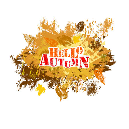 Abstraction of autumn leaves. Vector