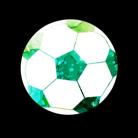 Football ball logo. Vector illustration