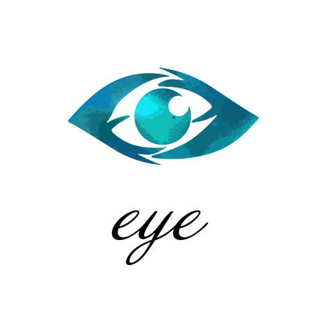Logo abstract stylized eye. The object of the human eye. Vector illustration