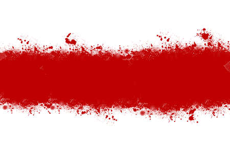 Belarus watercolor protest symbol white-red-white flag icon. Hand drawn illustration, dry brush stains, strokes, spots, isolated gray background. National colors. Painted grunge style texture. Ilustração