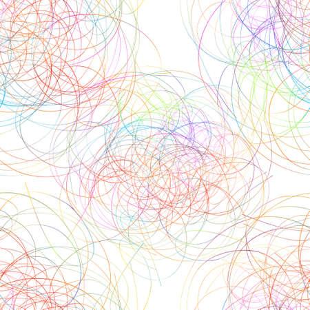 Hand-drawn rainbow circles. line pen doodle. Seamless background. Vector illustration Illusztráció