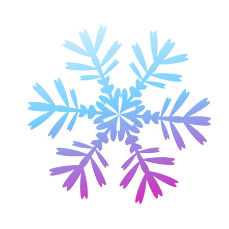 Its a beautiful snowflake. Vector illustration