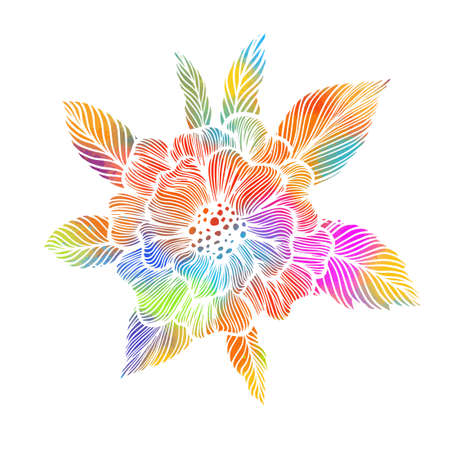 The abstraction is floral with a red flower. Vector illustration Illusztráció