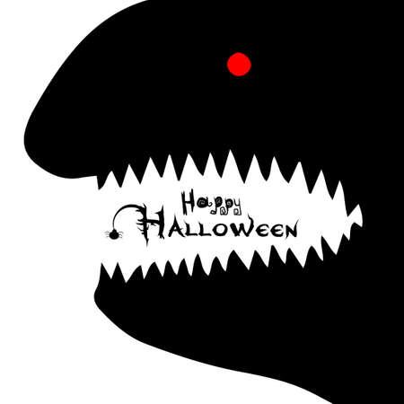 Toothy paste. Happy Halloween. Vector 矢量图像