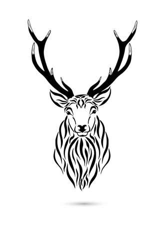The head of a deer. Vector illustration Vetores