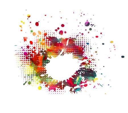 Multi color blots background. Vector illustration