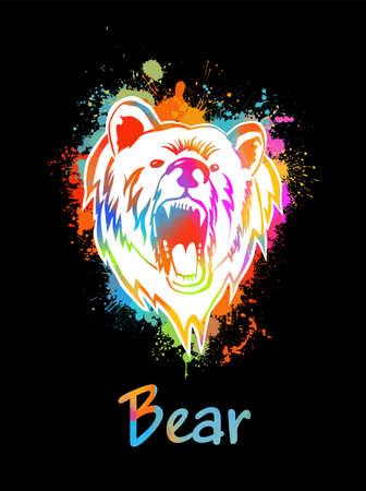 bear flat animal vector illustration
