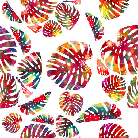 abstract colorful vector palm tree Vettoriali