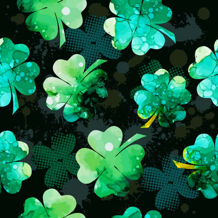 Clover multicolored. Happy St. Patrick's Day. Vector Vettoriali