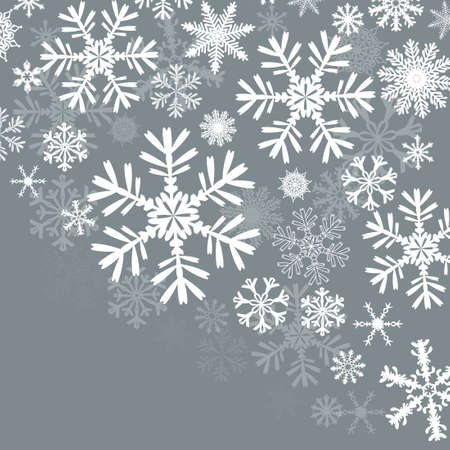 Blue background with snowflakes. Beautiful Christmas background. Vector illustration