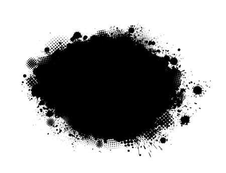 Brush stroke isolated on white background. Black paint brush. Grunge texture stroke line. Art ink dirty design. Border for artistic shape, paintbrush element. Brushstroke graphic Vector illustration Vettoriali