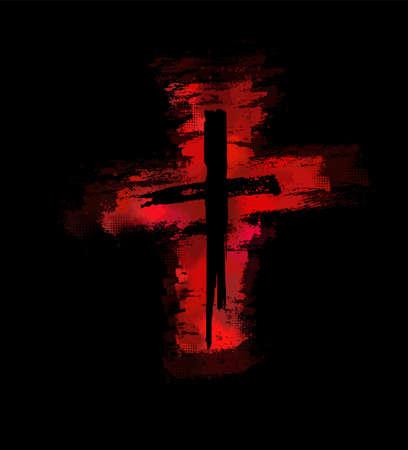 Bloody cross. Vector illustration