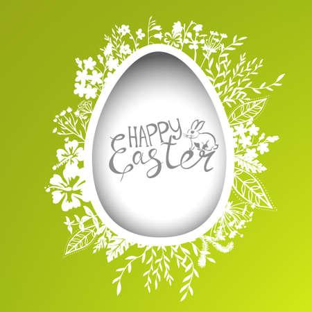 Easter egg frame for greeting card Vettoriali