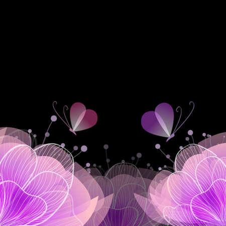 Pink beautiful flower. Vector illustration