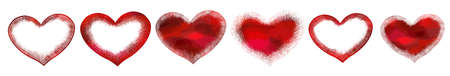 Set of red hearts. Vector illustration. For icons tattoo. Happy Valentines Day.