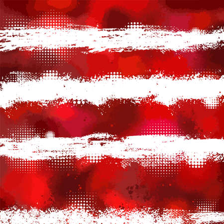 The background with the red stripes of the spots. Vector illustration