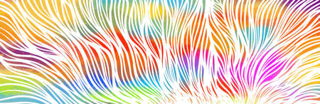 Graphic multicolored horizontal background from the lines. Vector illustration