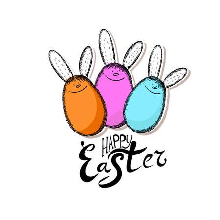 Easter rabbits from eggs. Vector illustration