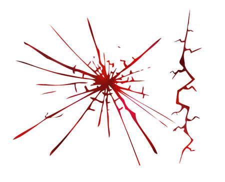 Red bloody cracks. Vector illustration Vektoros illusztráció