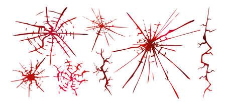 Red bloody cracks. Vector illustration