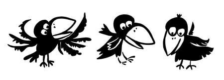 Funny crows. Vector illustration Vector Illustration