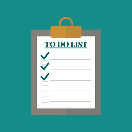 To do list concept  icon. Flat design. Vector illustration.
