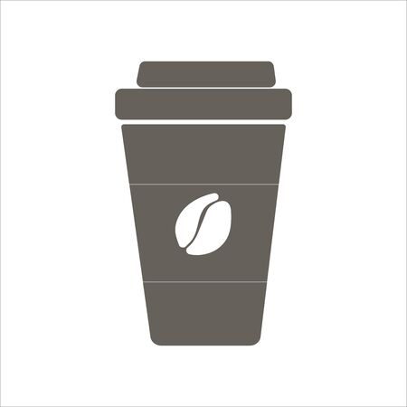 Coffee to go. Flat icon. Vector illustration