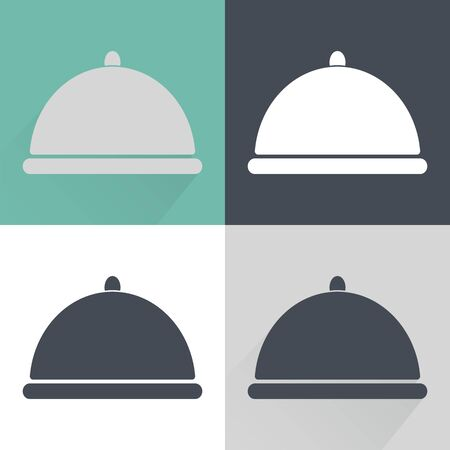 Food cover icon. Vector illustration